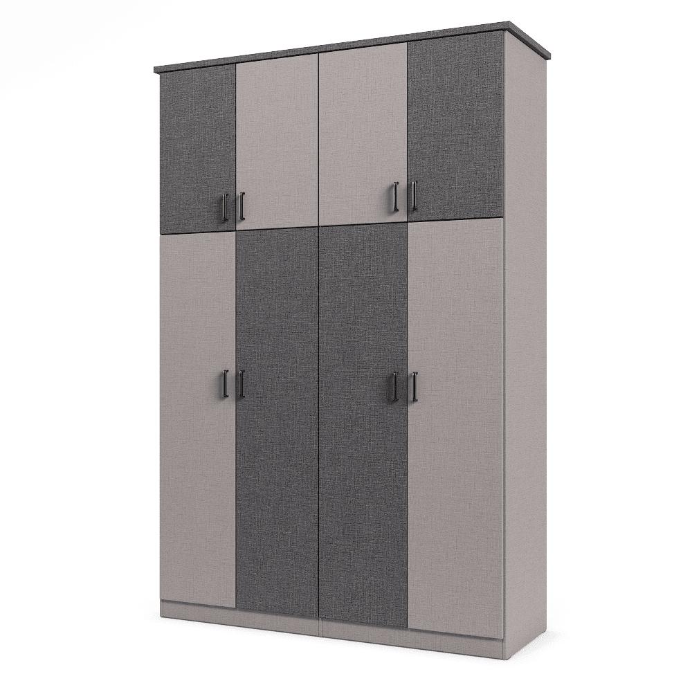 ארון 4 דלתות עם 8 חללי אחסון נפרדים + תא תלייה לקולבים – דגם מוראל