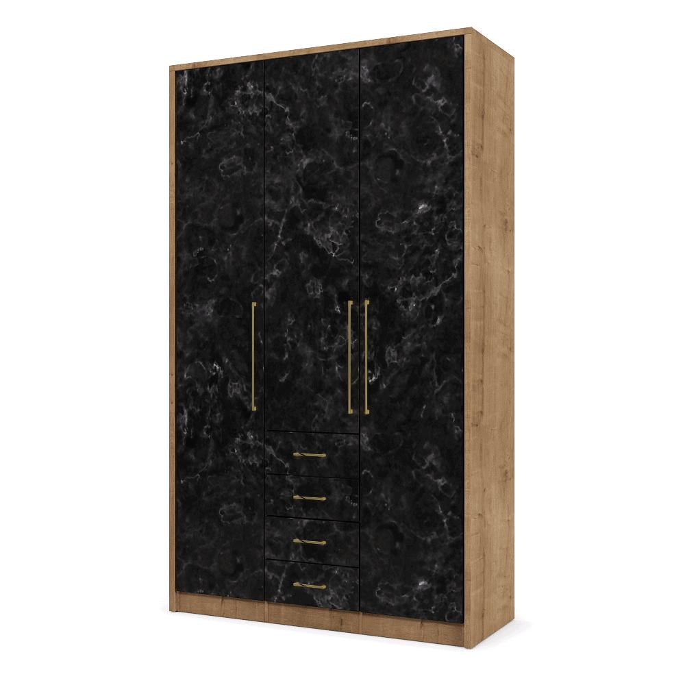 ארון 3 דלתות הכולל 12 חללי אחסון נפרדים ו- 4 מגירות + תא לתליית קולבים – דגם ניל