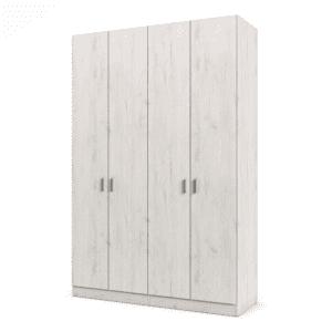 ארון 4 דלתות עם 8 חללי אחסון נפרדים + תא תלייה לקולבים – דגם עידן
