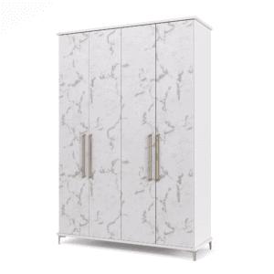 ארון 4 דלתות עם 8 חללי אחסון נפרדים + תא תלייה לקולבים – דגם טיילור