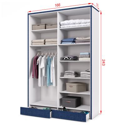 ארון 4 דלתות עם 8 חללי אחסון נפרדים + תא תלייה לקולבים ו- 2 מגירות תחתונות – דגם דוראל