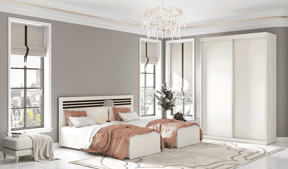 חדר שינה קומפלט הכולל  מיטה יהודית, ושידת לילה + 2 מגירות ואפשרות לארון הזזה עם 9 חללי אחסון – דגם אתרוג