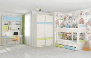חדר ילדים שלם הכולל ארון, ספריה ומיטה, במידות וצבעים לבחירתכם – דגם דר