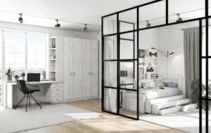חדר ילדים שלם הכולל ארון, ספריה ומיטה, במידות וצבעים לבחירתכם – דגם עידן