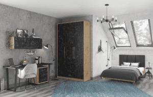 חדר ילדים שלם הכולל ארון, ספריה ומיטה, במידות וצבעים לבחירתכם – דגם ניל