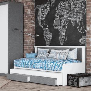 מיטת יחיד נפתחת עם משטח שינה נוסף + 2 מגירות אחסון – דגם טל