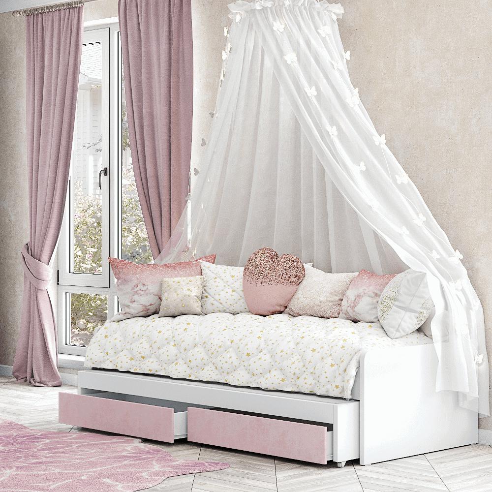 מיטת יחיד נפתחת + משטח שינה נוסף ו- 2 מגירות – דגם ירדן