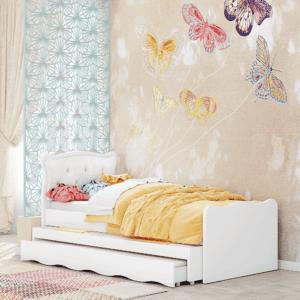 מיטת יחיד נפתחת + משטח שינה נוסף ו- 2 מגירות – דגם אושר נסיכה 3