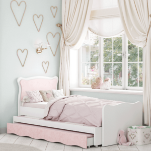 מיטת יחיד נפתחת + משטח שינה נוסף ו- 2 מגירות – דגם שניאל נפתחת נסיכה