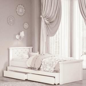 מיטת יחיד נפתחת + משטח שינה נוסף ו- 2 מגירות – דגם לין