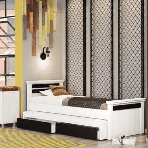 מיטת יחיד נפתחת + משטח שינה נוסף ו- 2 מגירות – דגם ניסן