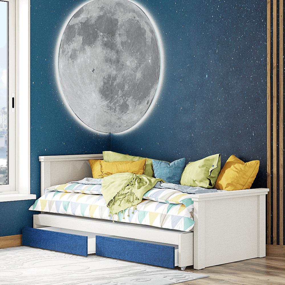 מיטת יחיד נפתחת + משטח שינה נוסף ו- 2 מגירות – דגם רותם