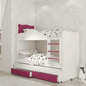 מיטת  קומתיים נפתחת + משטח שינה נוסף ו- 2 מגירות אחסון – דגם עדן