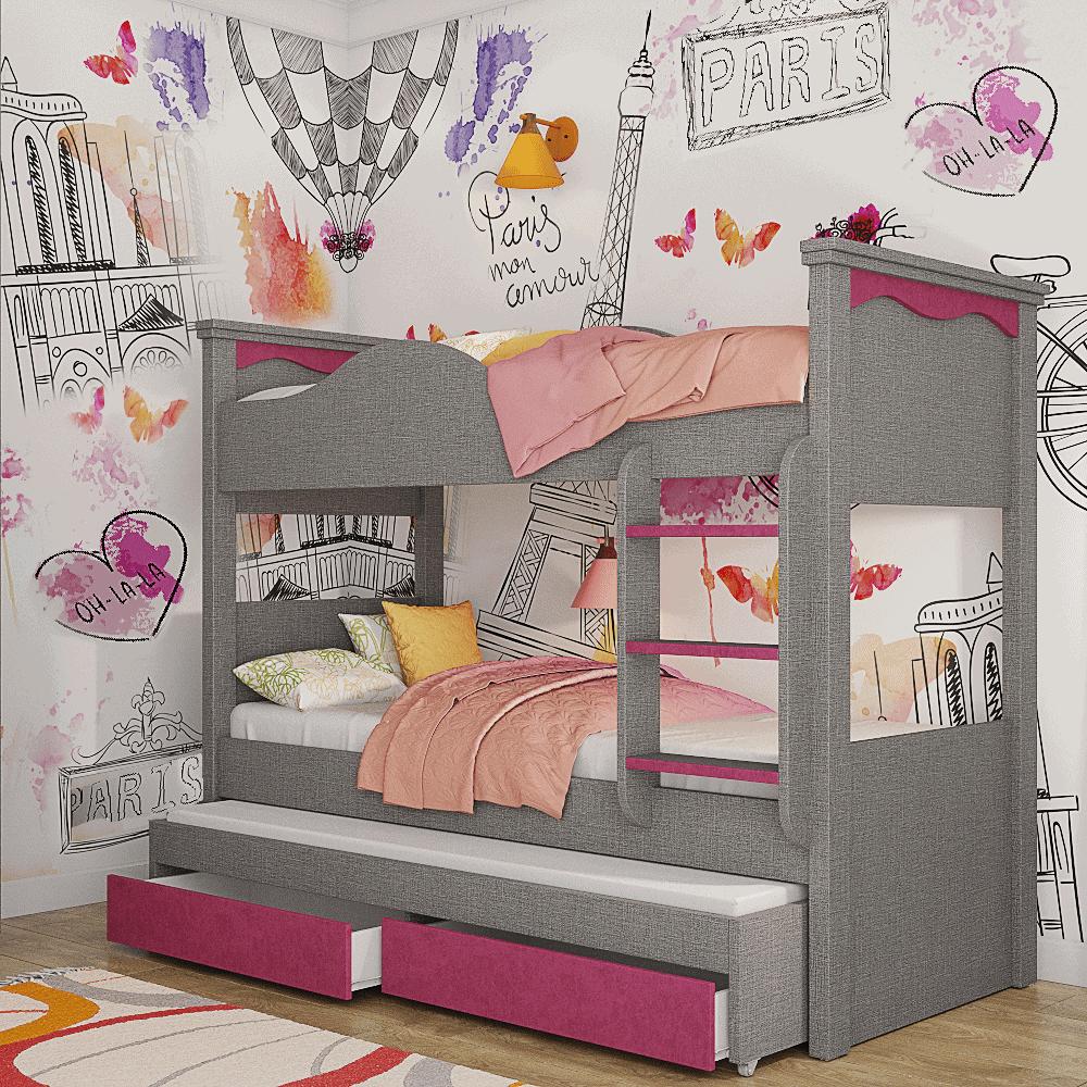מיטת קומתיים הכוללת משטח שינה נוסף + 2 מגירות אחסון – דגם KOMOTAIM 9 ARIAH MEUTCAV