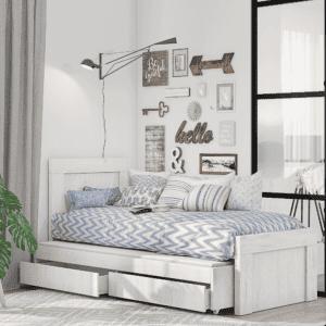 מיטת יחיד נפתחת עם משטח שינה נוסף + 2 מגירות אחסון – דגם קורן