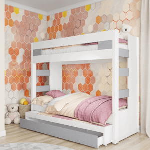 מיטת קומתיים הכוללת משטח שינה נוסף + 2 מגירות אחסון – דגם קומתיים סולם