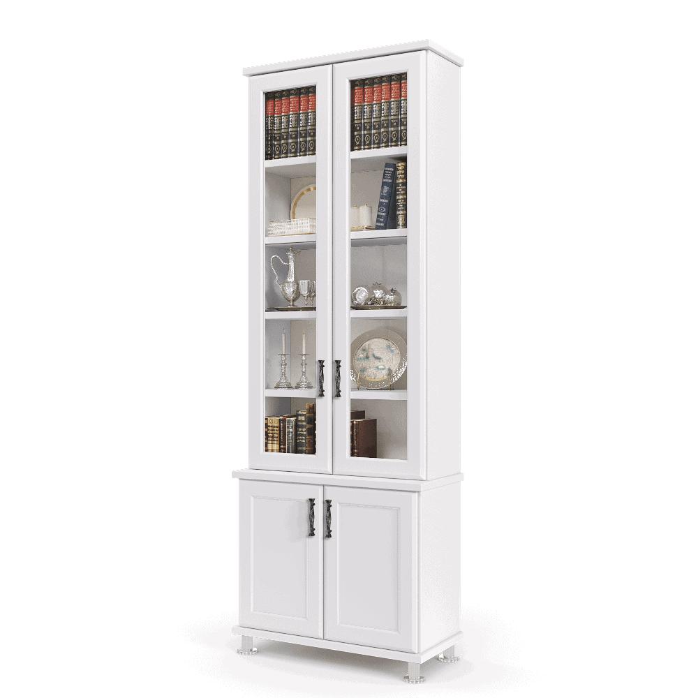 ספריית קודש עם 5 דלתות זכוכית + תא תצוגה מרכזי, ו- 6 דלתות אחסון תחתונות – דגם  MIRON 2
