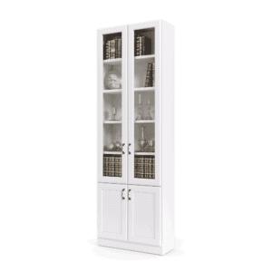 ספריית קודש עם 5 דלתות זכוכית + תא תצוגה מרכזי, ו- 6 דלתות אחסון תחתונות – דגם RAM GLASS 2
