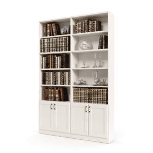 ספריית קודש הכוללת 10 מדפים לאחסון + 4 דלתות אחסון תחתונות – דגם רם בלי זכוכית 4