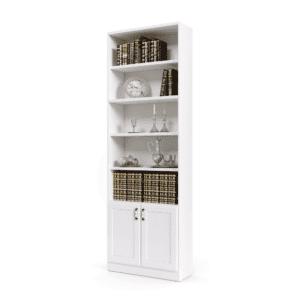 ספריית קודש פתוחה הכוללת 5 מדפי אחסון + 2 דלתות אחסון תחתונות – דגם רם בלי זכוכית 2