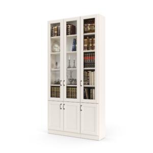 ספריית קודש הכוללת 3 דלתות זכוכית עליונות + 3 דלתות אחסון תחתונות – דגם רם גלאס 3