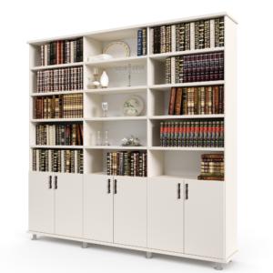 ספריית קודש הכוללת 15 חללי אחסון פתוחים ו- 6 דלתות עץ תחתונות לאחסון – דגם LOTOS WITHOUT GLASS 6