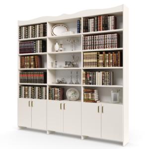 ספריית קודש הכוללת 15 חללי אחסון פתוחים ו- 6 דלתות עץ תחתונות לאחסון – דגם KARNIZ